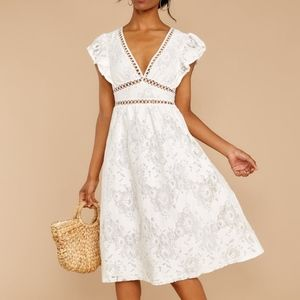 Days Gone By White Lace Midi Dress NEVER WORN
